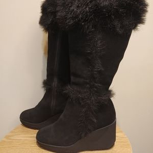 Riverland waterproof women's leather winter snow boots size 8